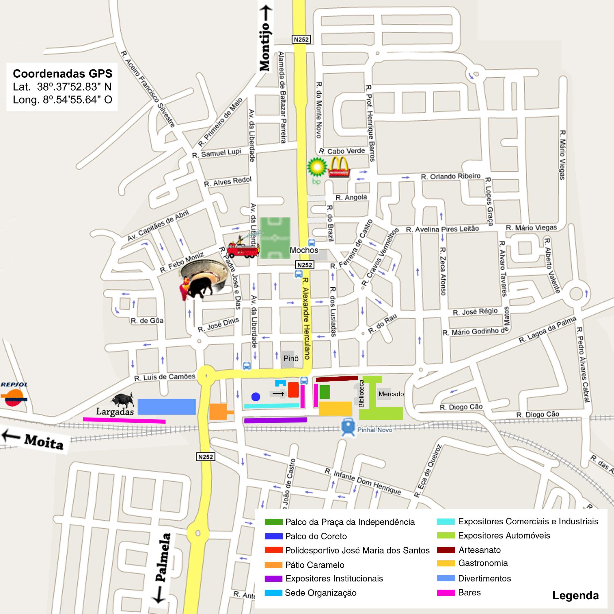 mapa do pinhal novo mapa das festas   Festas Pinhal Novo mapa do pinhal novo